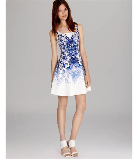 Dress Tile lyst millen dress tile print in white