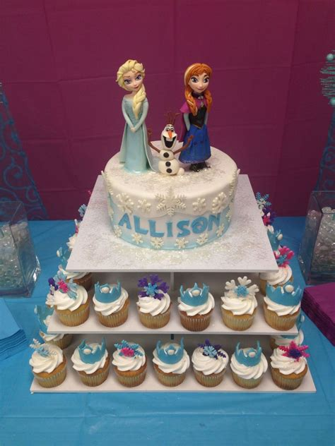 frozen themed birthday cake with fondant characters everything edible cakecentral