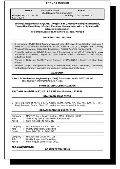 Seeking Assignments in QA/QC , Project Site , Piping