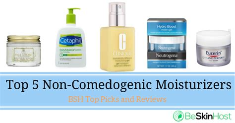 Acl Anti Comedogenic Lotion best top 5 non comedogenic moisturizers in 2018