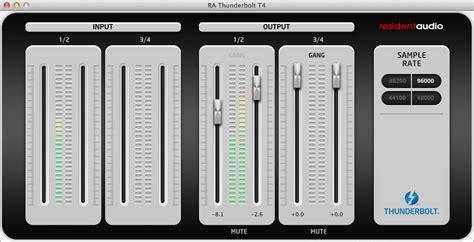 Resident Audio T4 2 thunderbolt soundcards for djing and live performance audiokorner