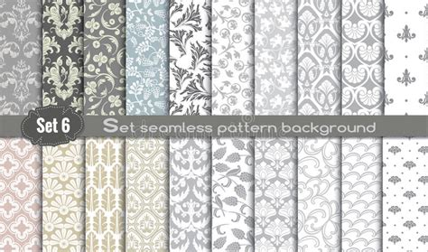 seamless pattern ai file vector damask seamless pattern background stock vector