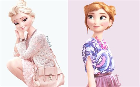 Baju Kristoff Frozen habille les personnages disney avec la mode actuelle golem13 fr golem13 fr
