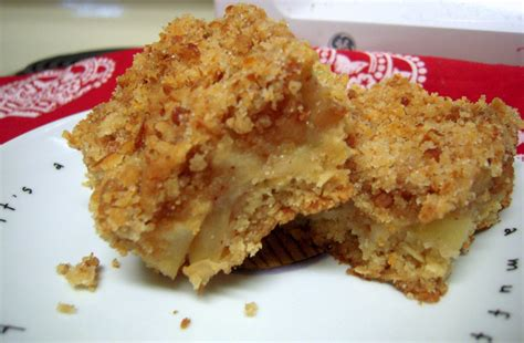 apple bars with oatmeal crumb topping apple oat bars with pretzel crumb topping fleur de licious
