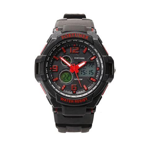 Jam Tangan Fortuner Quartz jual fortuner fr 1302 jam tangan pria merah