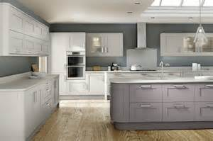 White Kitchen Cabinet Design Ideas cashmere amp stone grey shaker grained icon kitchens