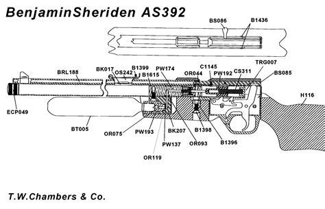 air rifle parts diagram benjamin as392 airgun spares chambers