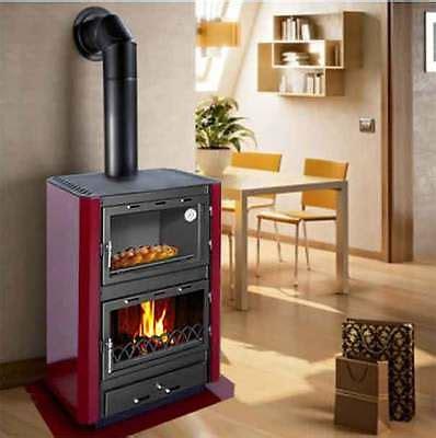 forno camino stufa a legna con forno fm12kw climacity