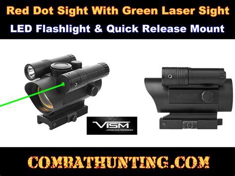 red dot laser light combo vism vdflgq142 red dot green laser flashlight combo
