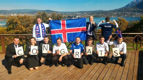 Islande Coupe Du Monde L Islande Qualifi 233 E Pour La Coupe Du Monde 2018 H 244 Tel