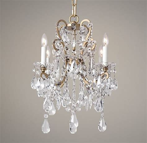Manor Court Crystal 4 Arm Chandelier Aged Gold Chandeliers For Baby Nursery