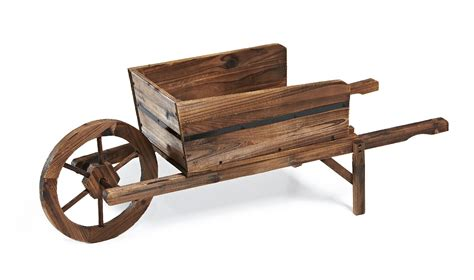 Wooden Wheelbarrow Planter by Essential Garden Wooden Wheelbarrow Planter Shop Your