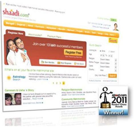 best matrimonial site shaadi best matrimonial website readers choice