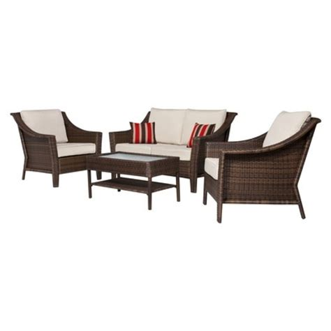 Patio Furniture Seating Sets Furniture Decor Tips White Wicker Outdoor Furniture With Outdoor Seat Target Patio Table And