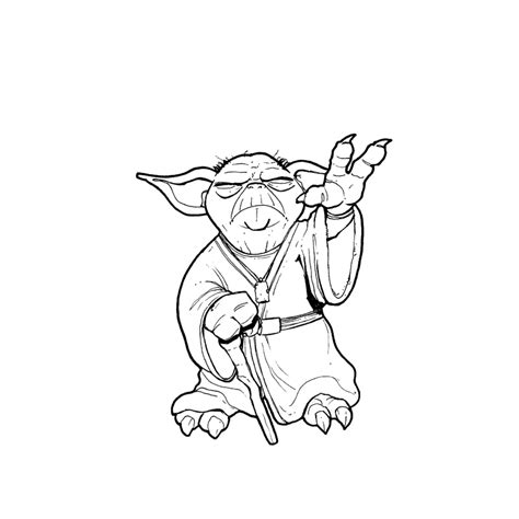 Yoda Drawing Outline by Yoda By Eldelgado On Deviantart
