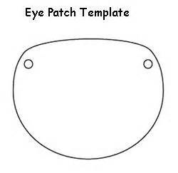 pirate eye patch template pirate eye patch template