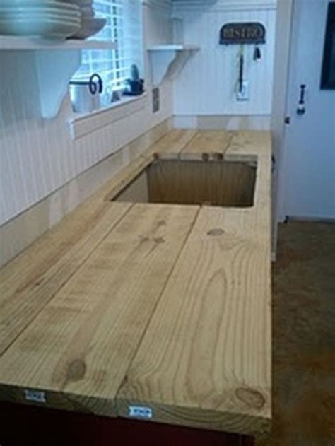 build   rustic countertop   home pinterest countertops tutorials  rustic