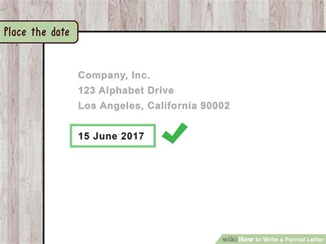how to write dates in a paper 4 ways to write a formal letter wikihow