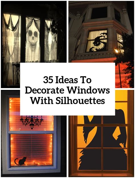 how to decorate your windows 35 ideas to decorate windows with silhouettes on halloween