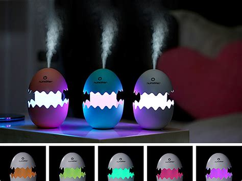 Lovely Snail Shape Essential Diffuser Cool Mist Color Led 550ml egg humidifier