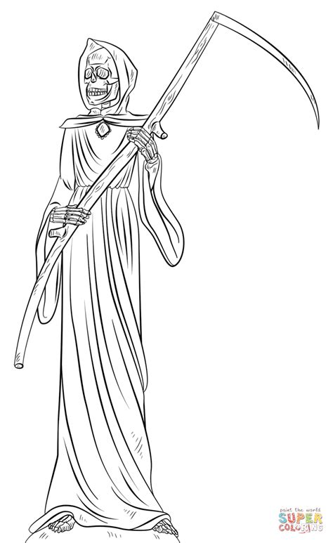 Grim Reaper Coloring Page Free Printable Coloring Pages Grim Reaper Coloring Pages