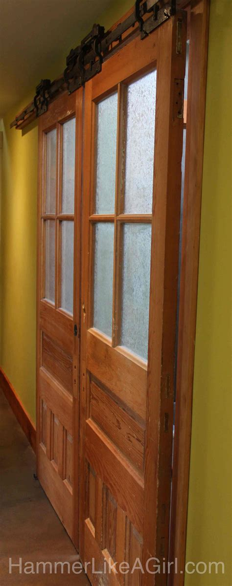 Salvage Barn Doors Using Salvaged Doors In A Remodel Part 1 Hammer Like A Girlhammer Like A