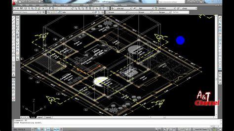tutorial gambar 3d autocad tutorial 3d rumah 2 lantai menggunakan autocad 2010 part