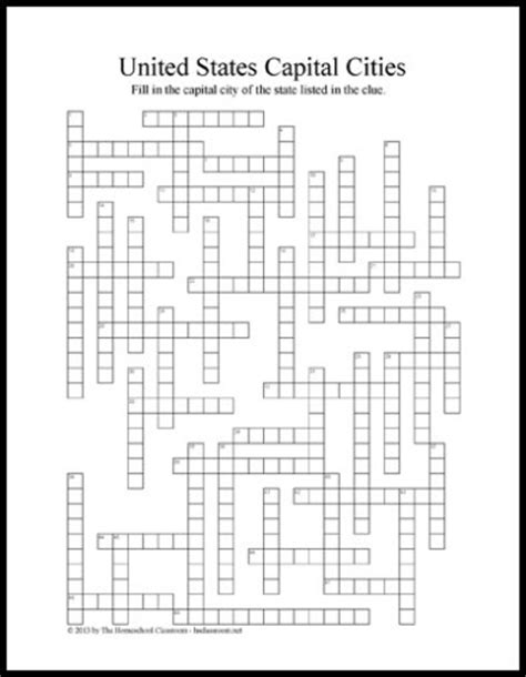 usa today crossword puzzle won t load united states state capitals crossword puzzle printable