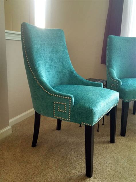 turquoise chair dining chairs