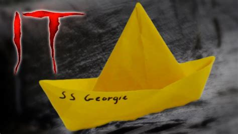 paper boat it ss georgie waterproof paper boat from it youtube