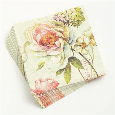 Decoupage Using Paper Napkins - 1 sheet decoupage napkin 25 25cm 3 ply paper serviettes