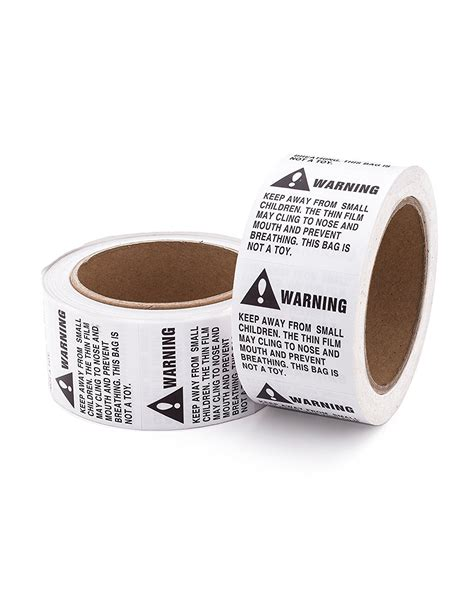design label roll suffocation warning labels 1 000 labels 2 rolls 500 per