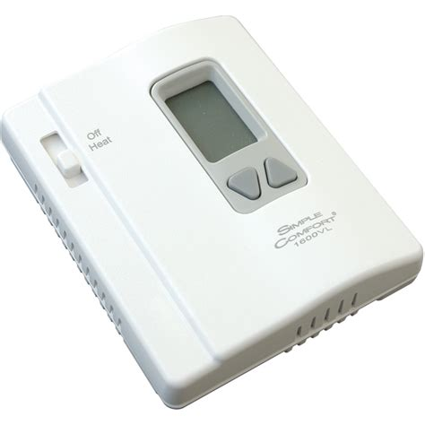 simple comfort thermostat sc1600vl thermostat simple comfort non programmable