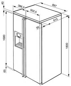 superb Width Of Refrigerator Standard #1: fa55pcil1dim.jpg