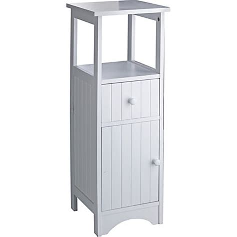 Homebase Bathroom Storage Tongue And Groove Bathroom Storage Unit White