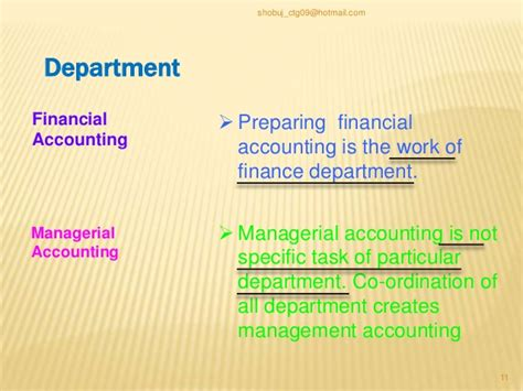 Financial Managerial Accounting differences between financial accounting vs managerial