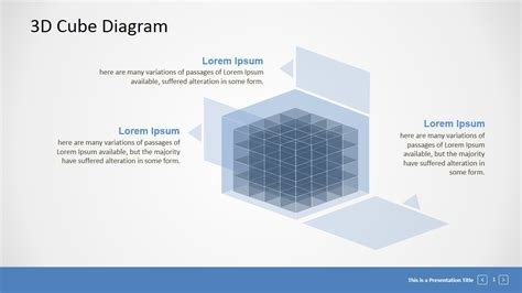 3d templates editable 3d cube presentation template slidemodel