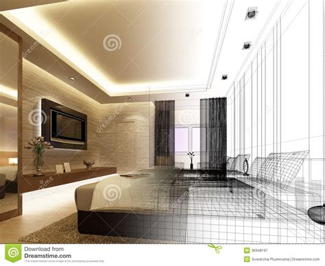 images of interior design sketch design of interior bedroom stock illustration