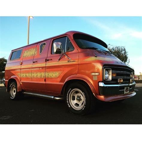 1975 Dodge custom van 70s California survivor tradesman