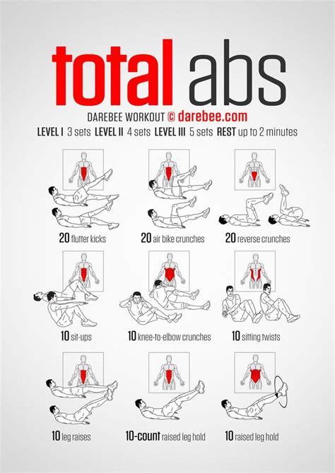 total abs darebee workout ab workouts