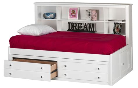bayfront full lounge bed bayfront white full lounge bed from new classics 1415 412