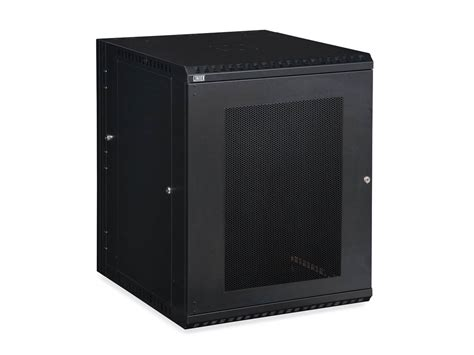 Mounting Cabinet Doors 15u Linier 174 Swing Out Wall Mount Cabinet Vented Door At Cables N More