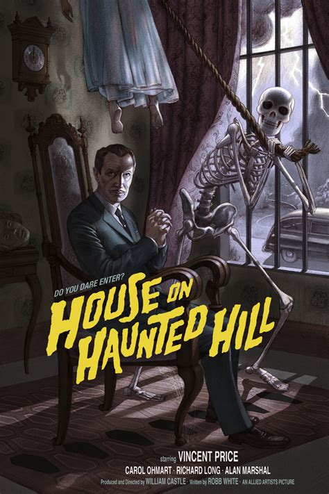 house on the haunted hill house on haunted hill by jonathan burton mondo release 411posters