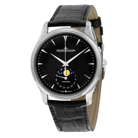 jaeger lecoultre master ultra thin moon automatic black