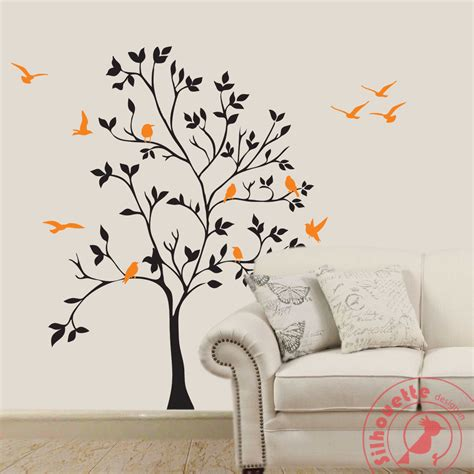 wall art designs tree silhouette painting on wall www pixshark com