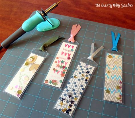 Bookmark 12 Sheets Fancy Plastic Bookmark fuse tool bookmark tutorial the crafty stalker