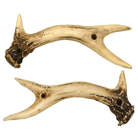 deer antler cabinet handles rustic hardware set of 2 antler knobs black forest decor
