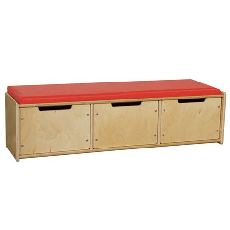 reading bench with storage wood designs contender series reading bench w drawers