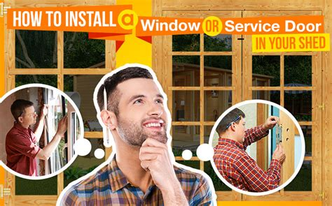 install  window  service door   shed