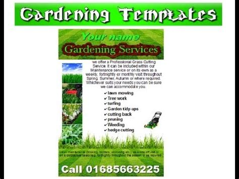 flyer templates gardening gardening leaflet flyer template youtube